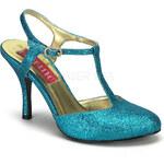 Violette 12G tyrkysové sandálky Pleaser 36 (US 6)