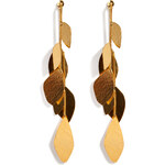 Hervé van der Straeten Hammered Gold-Plated Facet Earrings
