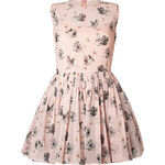 RED Valentino Swan Print Dress