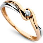 Diamantový prsten J I2 Au585 Gelber Engel
