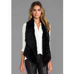 Elizabeth and James Menia Vest in Black