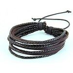 LightInTheBox Men's Multilayer Hand Knitting Leather Bracelet