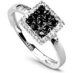 Diamantový prsten H I1 Au585 Sagesse échiquier