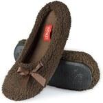 Soxo 5656 Lesklé papuče 36-37 hnědá