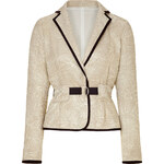Schumacher Gold boucle belted metallic jacket