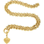 Juicy Couture Gold Chunky Link Charm Catcher Necklace