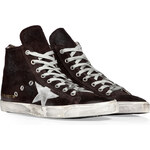 Golden Goose Dark Brown Suede Francy Hi Sneakers