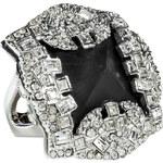 Alexis Bittar Black/Rhodium-Toned Teatro Moderne Pyramid Ring