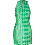 Balmain Green Patterned Sheath