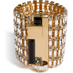 Emilio Pucci Crystal Bracelet in Gold/Silver