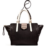 Marc by Marc Jacobs Black/Multi Colorblocked Leather Top Handle Satchel