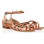 McQ by Alexander McQueen Blush Metallic Ankle Strap Flats