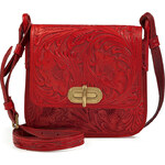 Ralph Lauren Collection Tooled Leather Crossbody Bag in Red