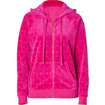 Juicy Couture Velour Heart Jacquard Hoodie in Fuchsia
