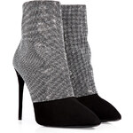 Giuseppe Zanotti Suede Ankle Boots with Chainmetal Crystals