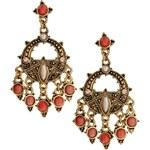 Talullah Tu Beaded Mini Chandelier Earrings - Orange