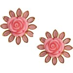Talullah Tu Floral Petal Stud Earrings - Pink