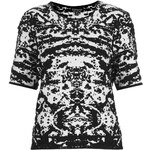 Topshop Knitted Abstract Jacquard Top