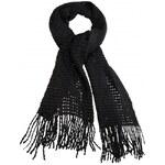 Premium Moda Černá šála HF-715-4 AKCE