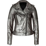 Belstaff Metallic Leather Portington Moto Perfecto Jacket