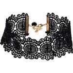 ASOS Victoriana Lace Choker Necklace - Black