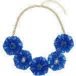Topshop Large Blue Flower Necklace