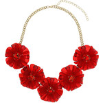 Topshop Large Red Flower Necklace