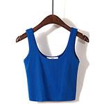 LightInTheBox Women's Slim Short Solid Color Cotton Vest