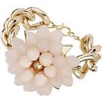 Topshop Pastel Pink Beaded Flower Bracelet