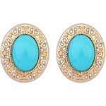 LightInTheBox Women's European and America Fashion Oval Alloy Cutout Resin Beaded Stud Earrings (More Colors) (1 Pair)