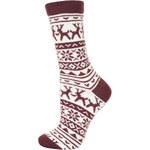 Topshop Chunky Reindeer Fairisle Socks