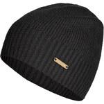 Burberry London Cashmere Fisherman Rib Hat in Black