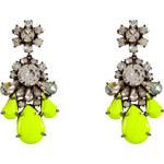Shourouk Neon Yellow Crystal DS Earrings