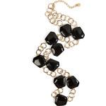 R.J.Graziano Nugget Chain Necklace in Black