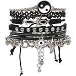 ASOS 90s Tattoo Bracelet Pack - Black