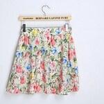 LightInTheBox Women's Fashion Small Fresh Florals Lilac Pattern Chiffon Skirt