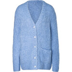 Michael Kors Mohair-Wool-Cashmere Boyfriend Cardigan
