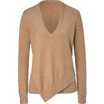 Michael Kors Cashmere-Cotton Asymmetric Hem Pullover