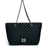 Love Moschino Large Quilted Shopper Bag - Black