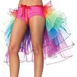 LightInTheBox Dancewear Women's Rainbow Mesh Tutu Tail Skirt(No Briefs)