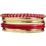 Johnny Loves Rosie Multi Bangle Stack - Pink