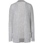 Michael Kors Cashmere-Cotton Crochet Cardigan