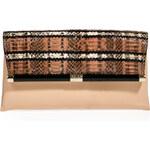 Diane von Furstenberg Snakeskin/Leather Envelope Clutch