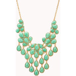 FOREVER21 Teardrop Bib Necklace