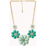 FOREVER21 Floral Fantasy Bib Necklace