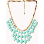 FOREVER21 Standout Beaded Bib Necklace