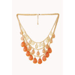 FOREVER21 Show Off Layered Teardrop Necklace