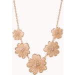FOREVER21 Cutout Craze Floral Necklace