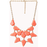FOREVER21 On The Edge Spiked Bib Necklace