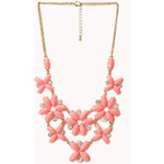 FOREVER21 Fancy Floral & Rhinestone Necklace